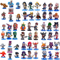 Mini action figure game anime cartoon character custom plastic pvc toy set vinyl car accessory interior decoration for kid