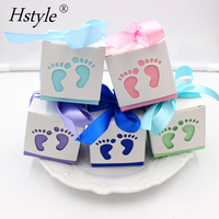 Baby Shower Ribbon Favour Gift Candy Boxes Wedding Favors and Gifts for Boy Girls Birthday Party PB101