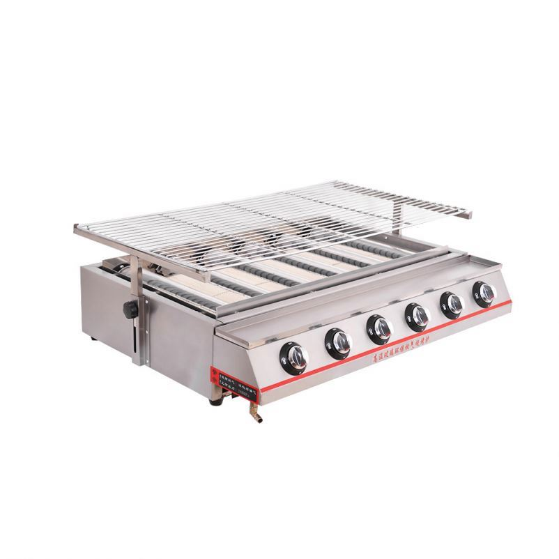 Single, Vertical Cooking And Outdoor <strong>Grilling</strong> BBQ Chicken,<strong>Fish</strong>, Vegetables, Fast, Efficient Heating, Stainless Steel Gas I