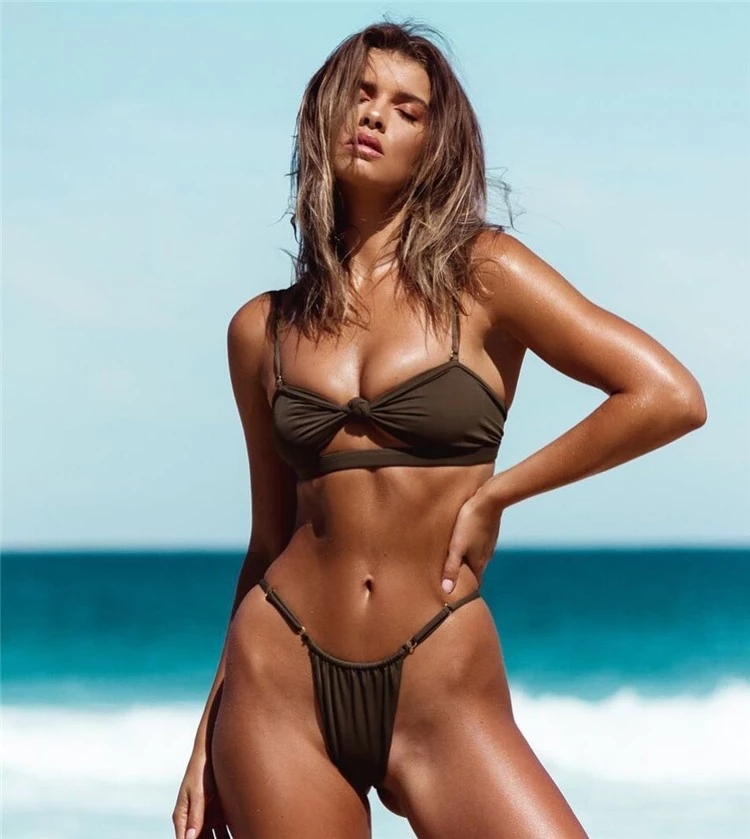 2019 Latest Design Wholesale Hot Sexy Women Swiwear Bandeau Thong Micro Bikini Wholesale Swimwear фото