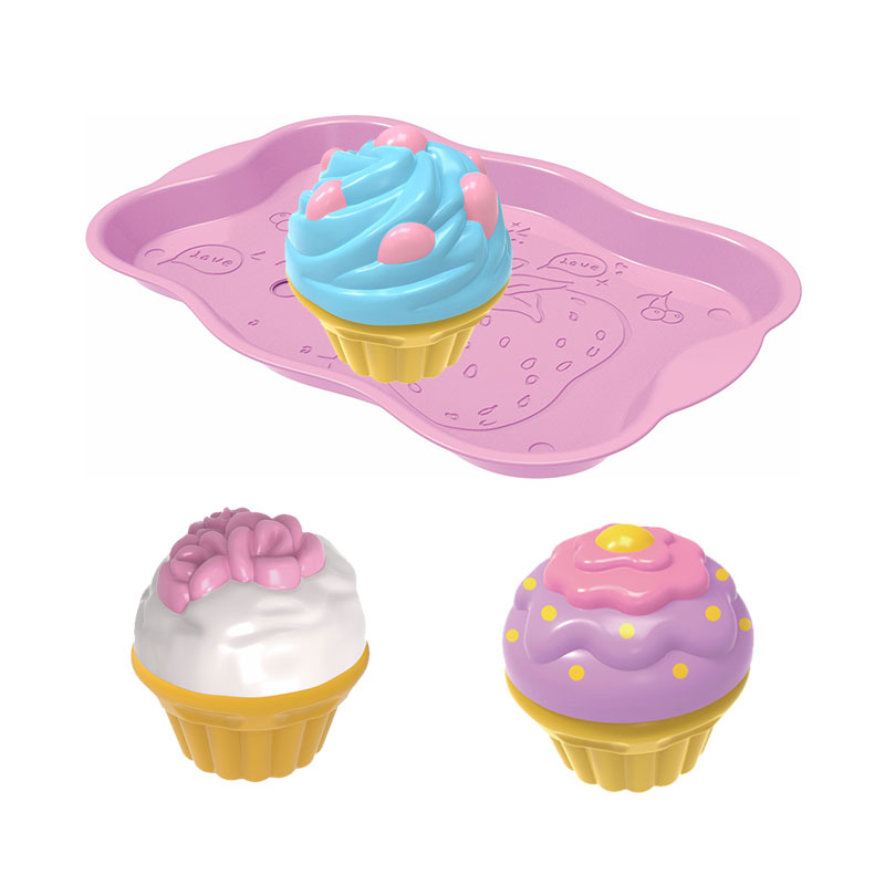 Donut ice cream cakes toy set plastic ABS kids play kitchen