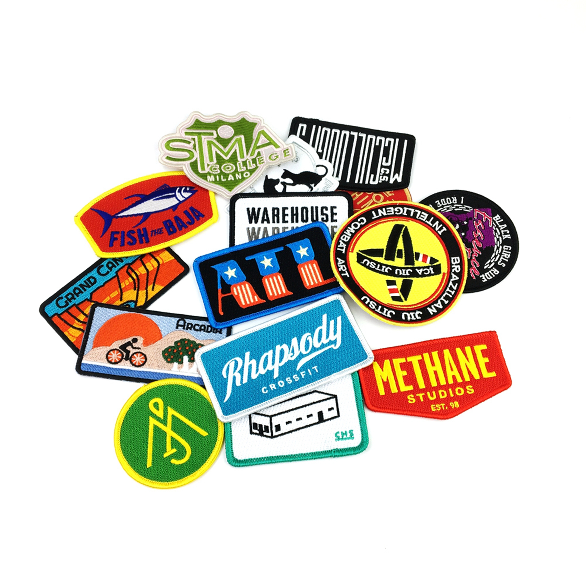 logo cheap clothing iron on Custom embroidery patches for patches embroidery