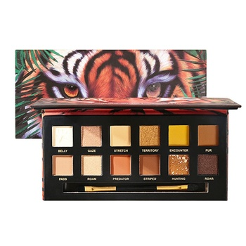 Matte/Pearlescent waterproof animal Tiger/Crocodile/Piggy/Wolf explorer 12-color eye shadow