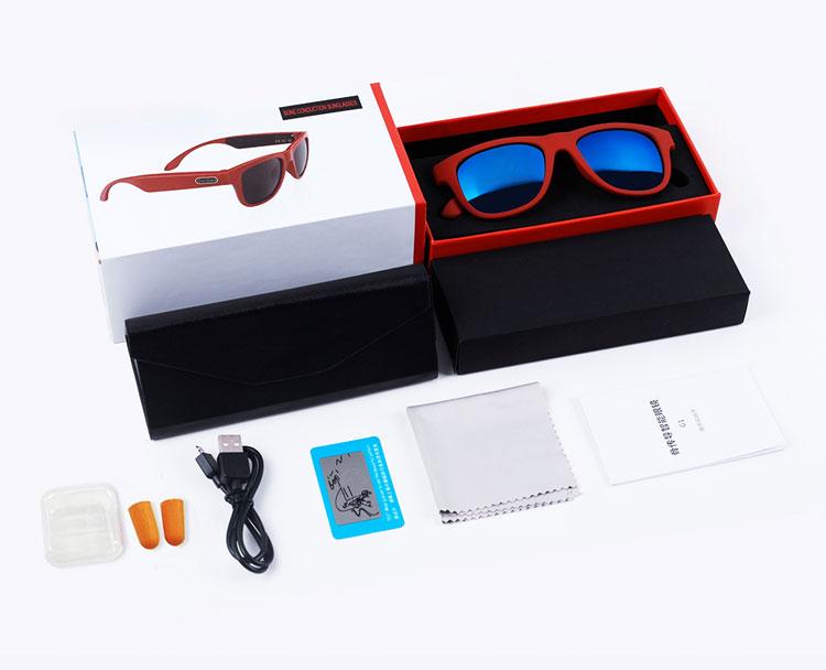 Alova Bone Conduction Smart Sonnenbrille mit Funkkopfhörer Orange