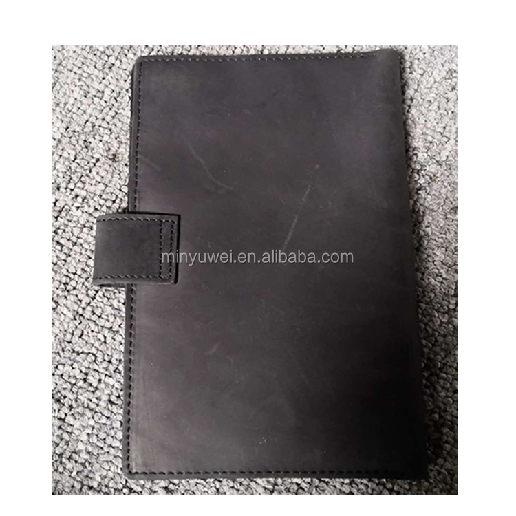 Factory custom 4pcs passport slot leather passport wallet with credit card slots and pen loop