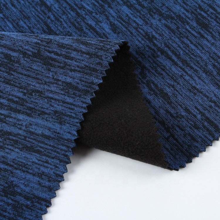 Factory price high quality 100% polyester cationic single jersey bonded micro fleece fabric with TPU