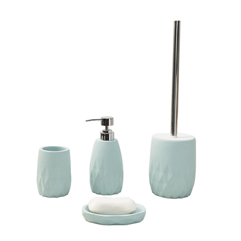 Eco-friendly blue bathroom accessories set bathroom set bathroom decor