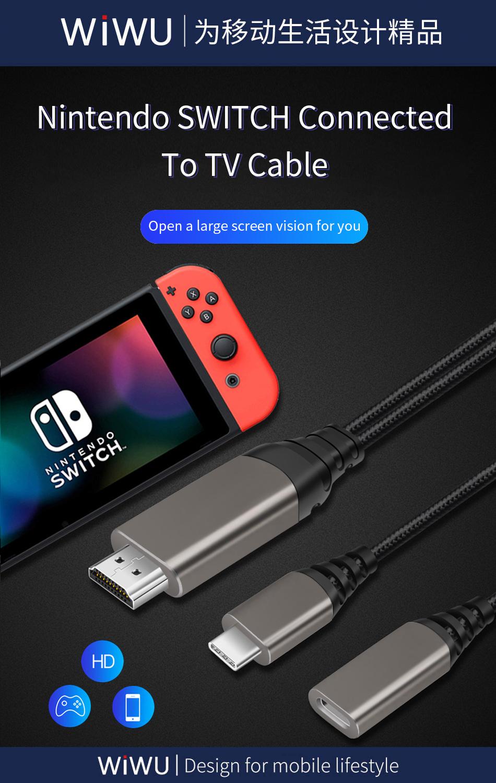 WiWU X10 type-c转HDMI数据线 (https://www.wiwu.net.cn/) 数据线 第1张