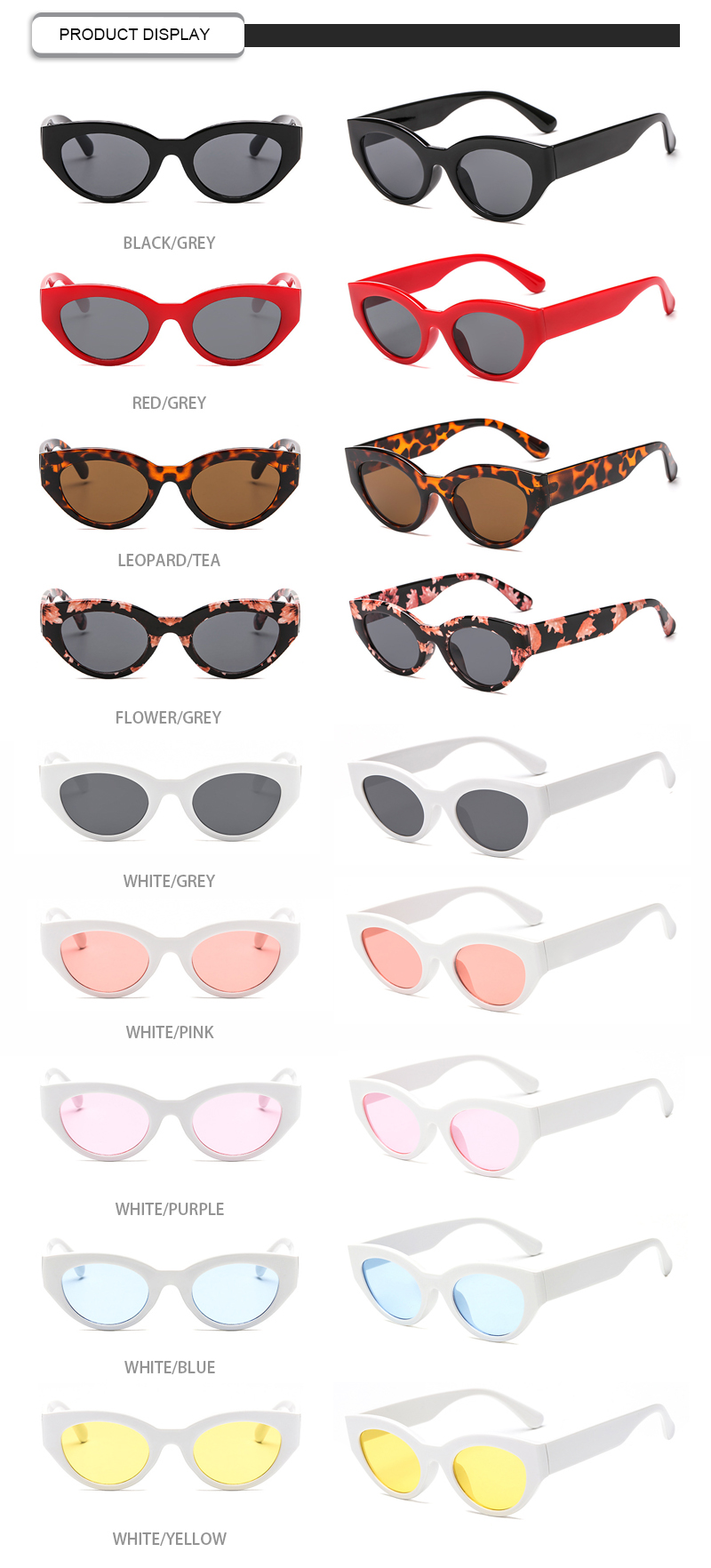 Wholesale Personality Logo Printing Small Frame Men Women Sunglasses