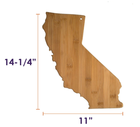 Board Custom California State Shaped Bamboo Wooden Serving Cutting Board