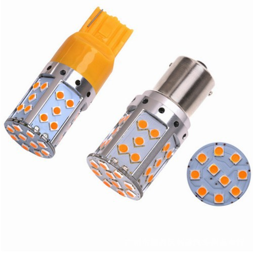 T20 LED Geen Hyper Flash Lamp 7440 W21W Auto Richtingaanwijzer Geel/Amber 35SMD 3030 High Power LED canbus Geen fout