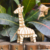 Natural harmless material brain teaser iq game giraffe animal toys mini wooden puzzle