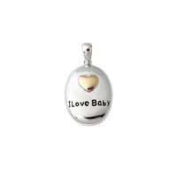 Cute Jewelry Gold Heart Custom Logo Enamel Egg Baby Pendant