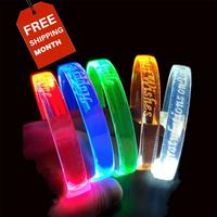2019 Hot New Products Light Up Novelties LED Flashlight Wristband Music LED Charm Bracelet
