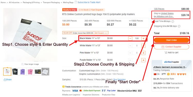 """24 """"* 28""""/60cm * 70cm Pronto para enviar a impressão do logotipo Personalizado Adesivo Forte a preços acessíveis china sacos de polietileno"""