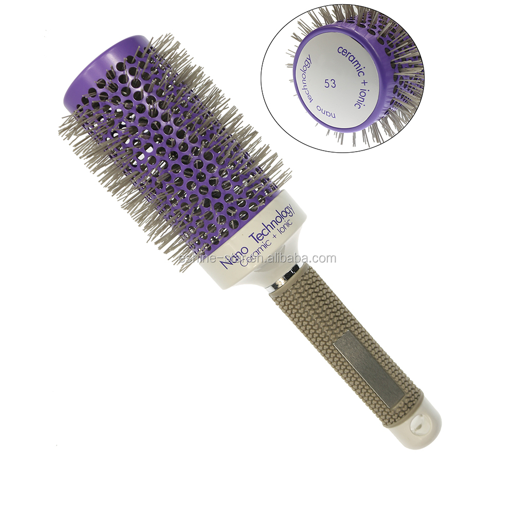whole sale price round nano technology ceramic ionic hair brush