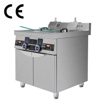 Best automatic two basket commercial induction deep fryer