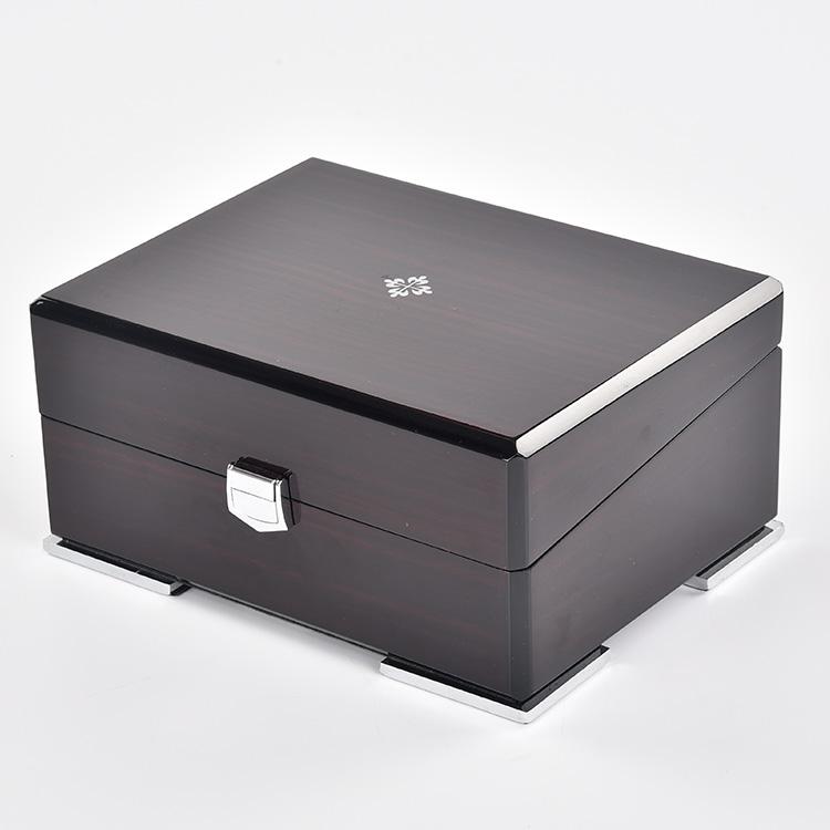 High end black high quality individual mens big watch box