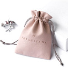 PandaSew 8*13cm Custom Microfiber Jewelry Packaging drawstring Pouch with logo