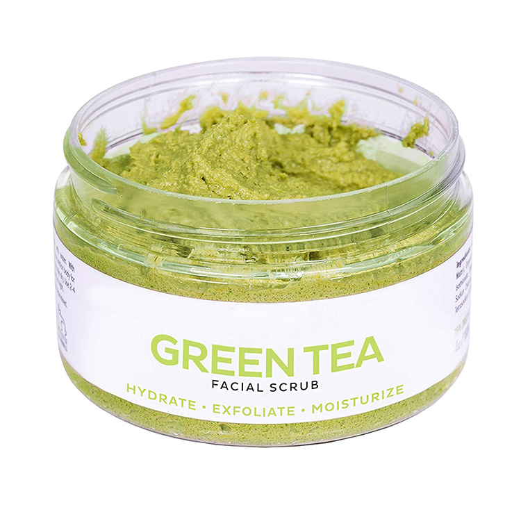 All Skin Types REMOVES BLACKHEADS exfoliating scrub Hydrate Moisturize green tea face scrub