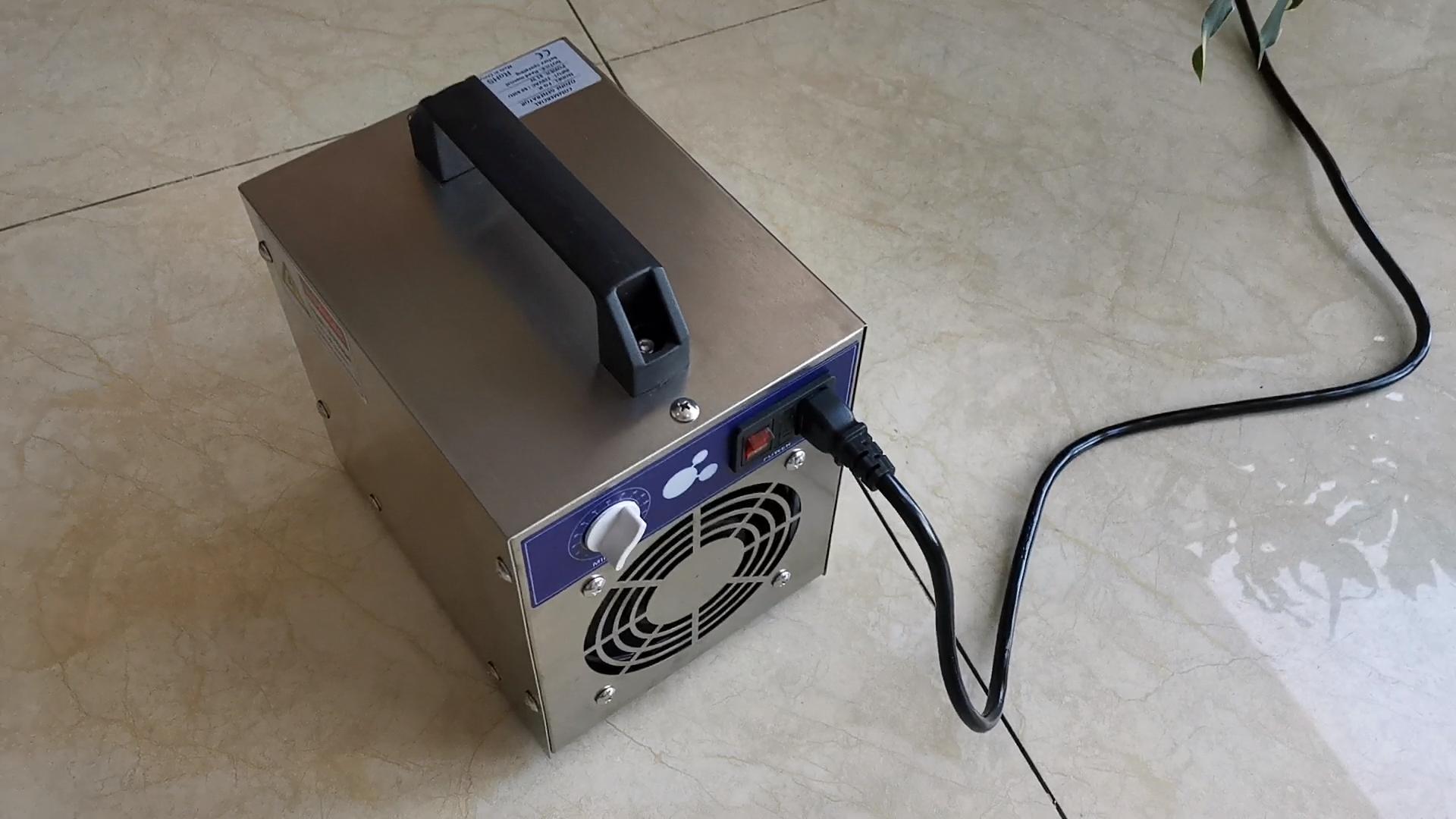 5G 10G 20G 30G पोर्टेबल ओजोन जनरेटर के साथ 120 मिनट समय स्विच Generadores डे Ozono मिट्टी के हवा क्लीनर के लिए कार