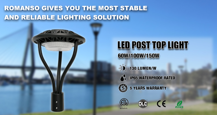 Alibaba Newest Products LED Garden Lamp Outdoor Pole Lighting garden lights outdoor 220v 60w 100w 150w led post top light