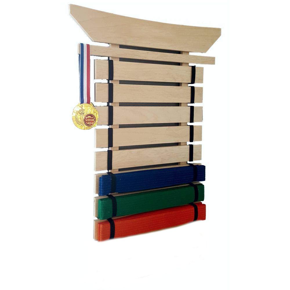 8 personalised martial arts belt holder display karate Teakwondo birthday gift