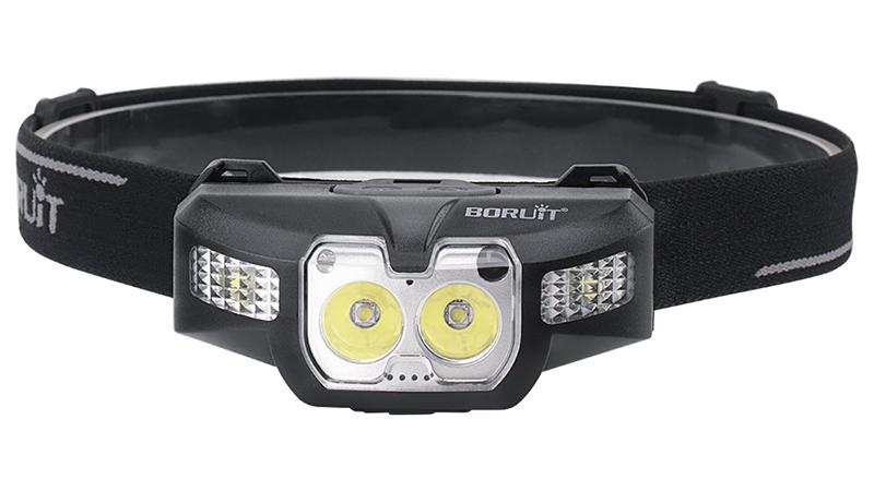 Boruit B30 Mini Đầu Đèn Ánh Sáng Màu Đỏ 10W USB Có Thể Sạc Lại Head Torch Cảm Biến Chuyển Đổi LED Đèn Pha Đối Với Chạy