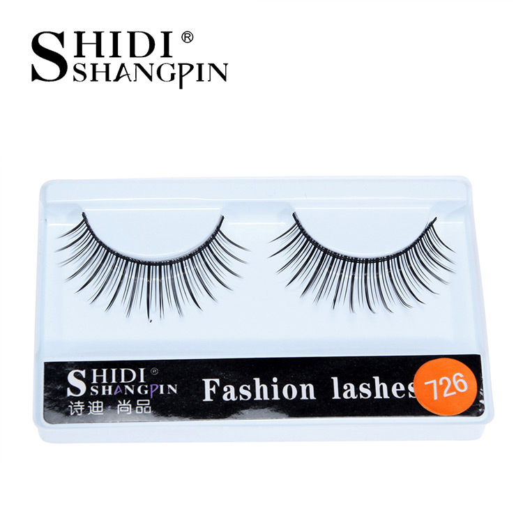 Nude Makeup False Eyelashes 10 Pairs Natural Fiber Long Eyelashes 726 Factory Wholesale