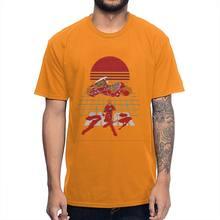 Футболка Akira унисекс с графическим принтом, Винтажная Футболка аниме, Мужская футболка из органического хлопка, оптовая продажа, рождествен...(Китай)