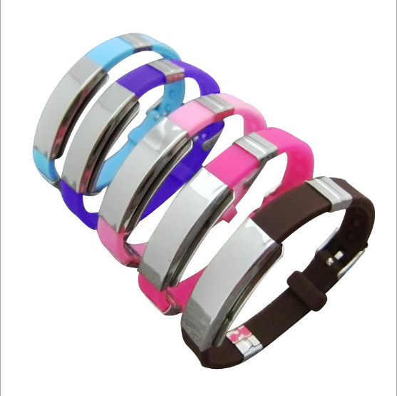 Drop Shipping Good Quality Personalized Stainless Steel Silicone ID Bracelet Custom Engraved Medical Alert ID Bracelet, Silver