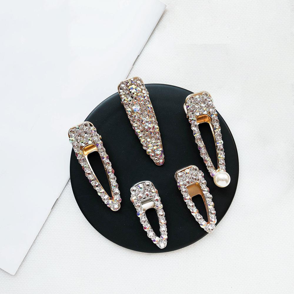 Newest arrival Crystal Hair Clips,Hot Shinny Rhinestone Hair Clips,Fashion Metal Luxury Hair Pins