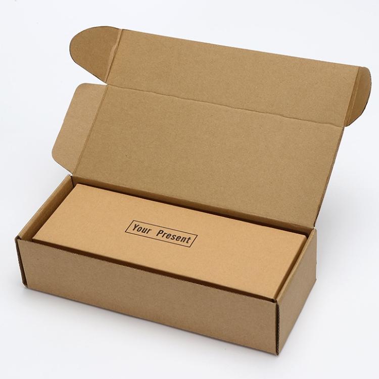 Biodegradáveis E Compostáveis saco de papel Marrom kraft personalizado impresso embalagens de papelão ondulado caixa de papelão