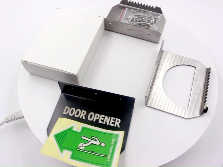 ที่กำหนดเองEdc TouchlessโรงรถHygenicแฮนด์ฟรีคริลิคดึงมือจับพลาสติกAutslidingเท้าเปิดประตู