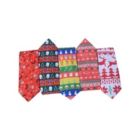 X&H High Quality Novelty Polyester Or Silk Christmas Funny Ties