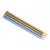 metallic paint wooden pencil 6pcs packing in a paper box for office and school