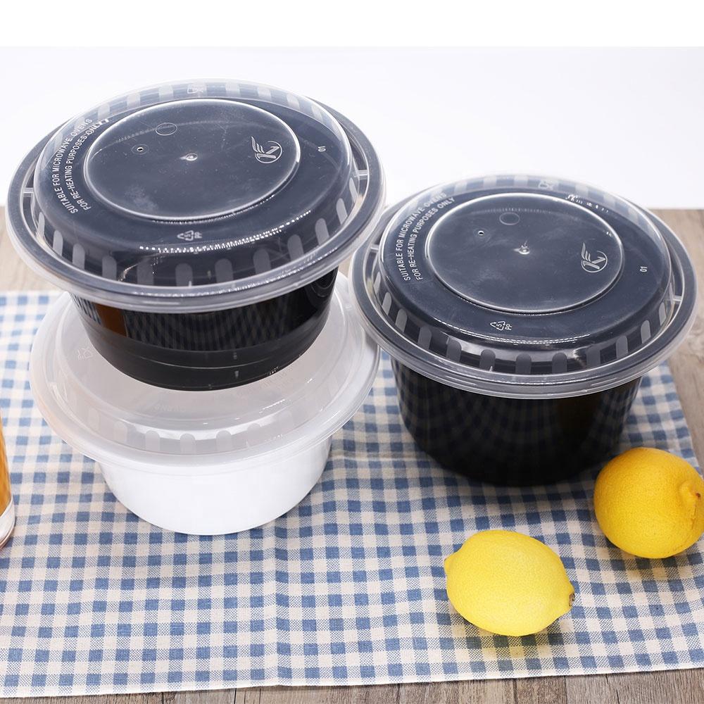 Pp 레스토랑 걸릴 포장 일회용 플라스틱 식품 용기 뚜껑 샐러드 빠른 음식 식사