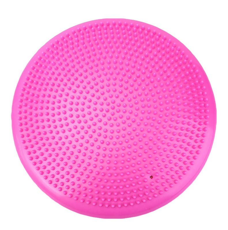 Colorful PVC massage cushion inflatable Yoga massage balance cushion
