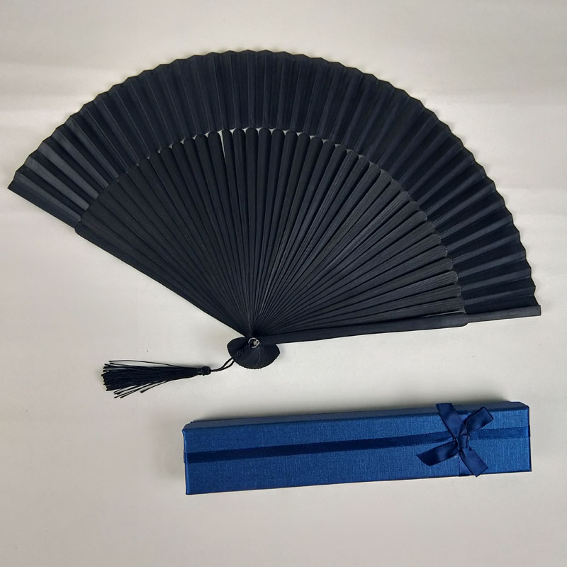 [I AM YOUR FANS] sufficient stock! Black cool bamboo frame folding decorative hand Fans nice gift to your friends