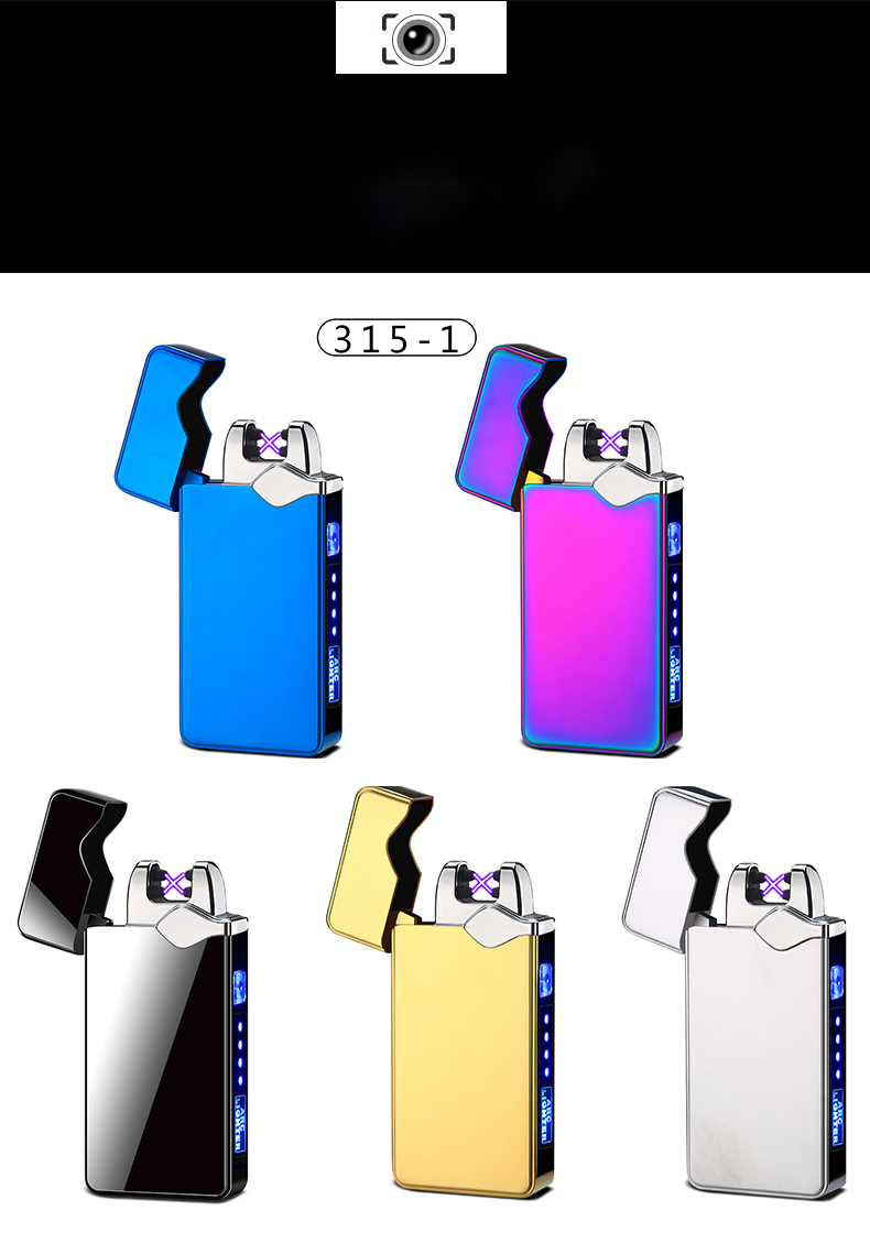 2020 New Lighters Wholesale Cheaper Electric USB Lighter Doule Arc Lighter