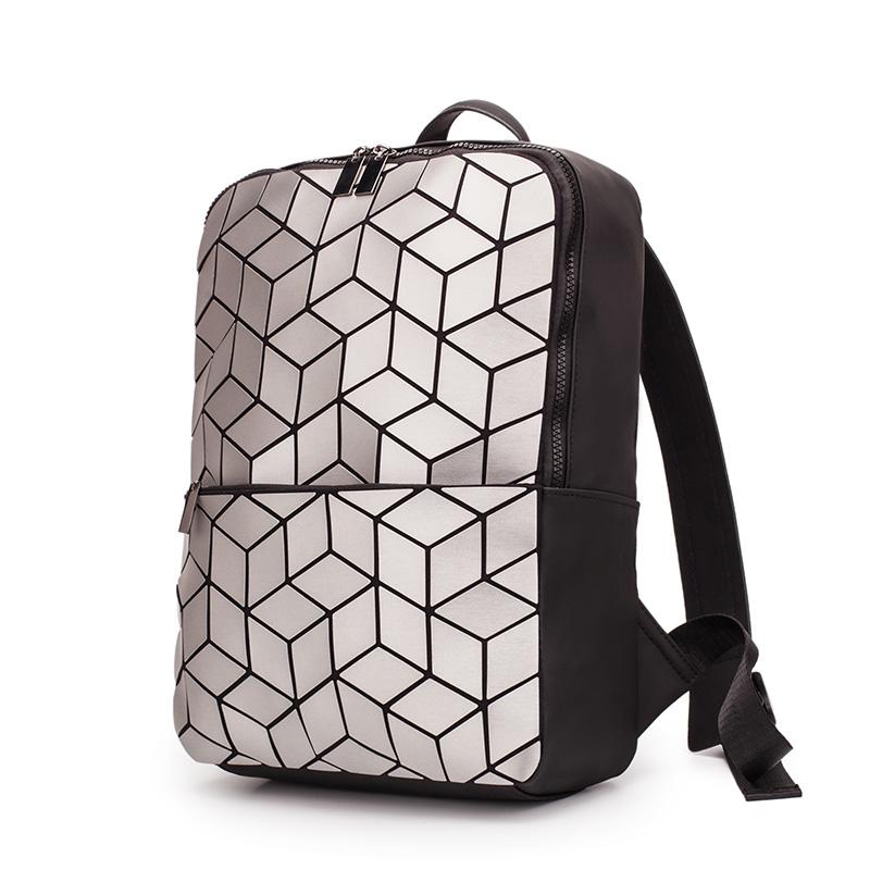 2020 Geometric Rhombic Sequin  Backpack Women Fashion Luxury Bagpack Female Bag Travel Laptop Bookbag for Girls Back Pack