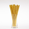 Flexible 8mm Gold Paper Drinking Straws Christmas Gifts