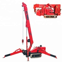 Water proof 3T Mini Spider Lifting Crawler Cranes for sale with CE approved