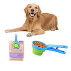 New Arrival folding plastic spoon, dog food clip, pet bowl