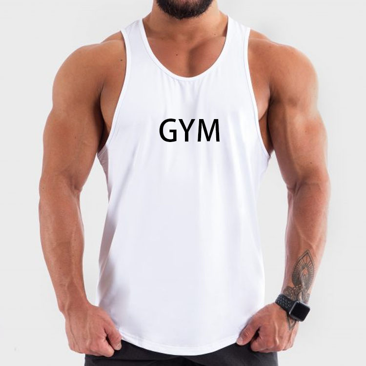 Custom  logo high quality fashion fitness gym tank top men with private label
