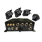 4CH 720P Mobile Dvr HD HDD dual SD CARD Vehicle DVR For Bus taxi trunk school bus Security