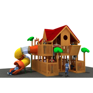 Nature Color Cheap Wooden Children Outdoor Playground Children Play Park Playhouse