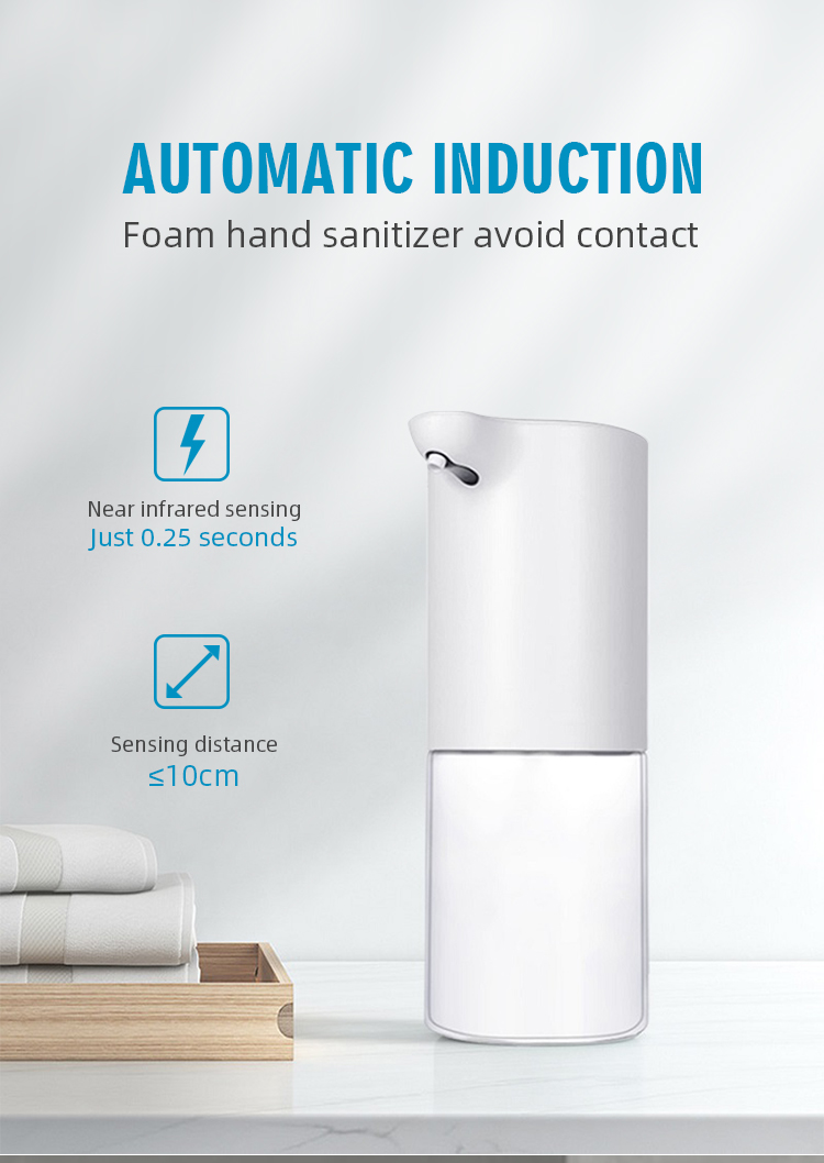 2020 Popular Use-friendly Home Bath Automatic Foam Soap Dispenser Touchless
