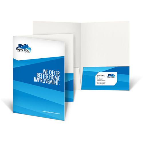 Presentation folder printing, A4 size handmade cardboard file paper folder