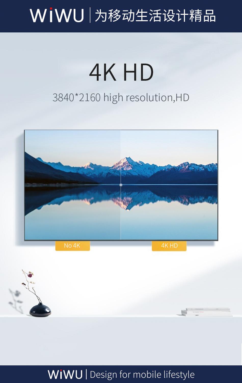 WiWU X10 type-c转HDMI数据线 (https://www.wiwu.net.cn/) 数据线 第7张